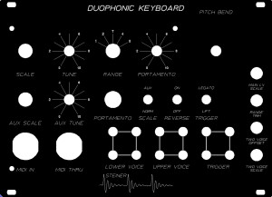 Duophonic panel with MIDI