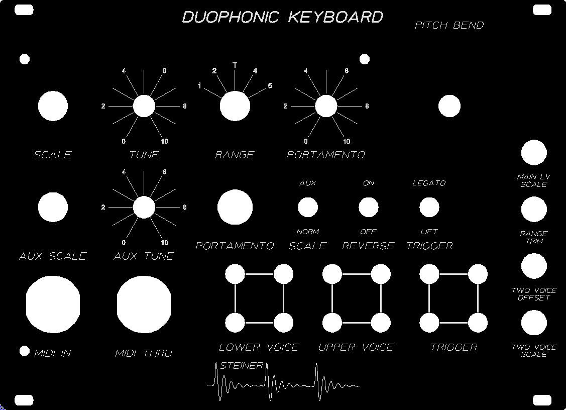 Steiner Duophonic Keyboard - MIDI Set
