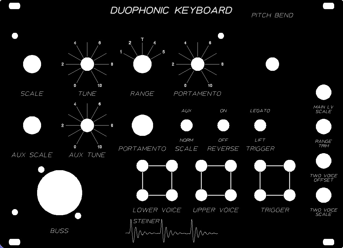 Steiner Duophonic Keyboard - Buss Keybed Set