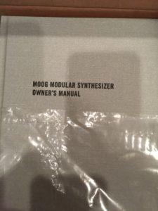 Moog Model 15 manual